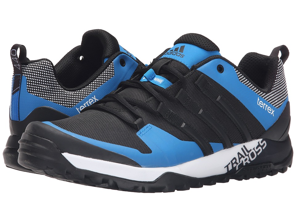adidas Outdoor - Terrex Trail Cross SL (Black/White/Shock Blue) Men's Shoes