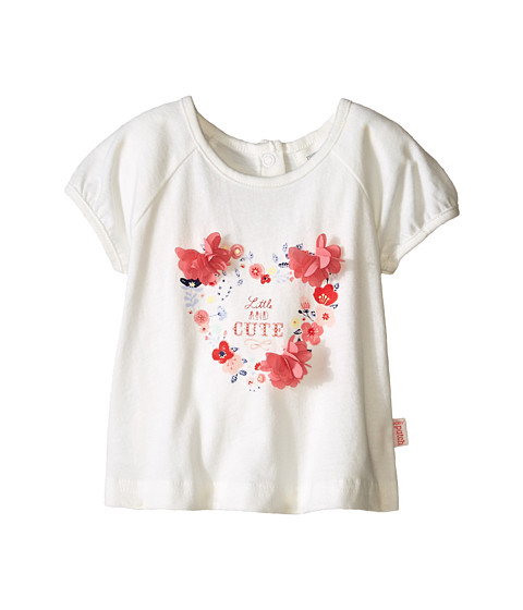 Pumpkin Patch Kids - Urban Folk Heart Flutter Flower Top (Infant) (Vanilla) Girl