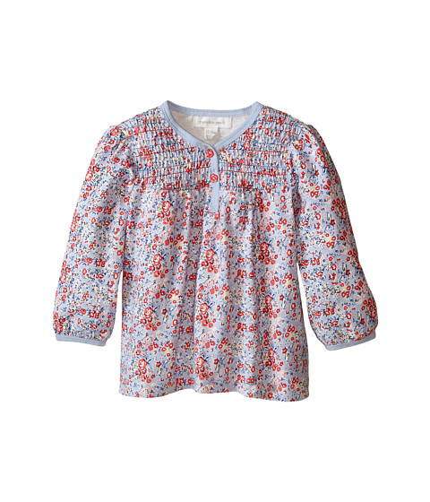 Pumpkin Patch Kids - Urban Folk Mini Floral Knit Shirt (Infant) (Cornflower Blue) Girl's Clothing