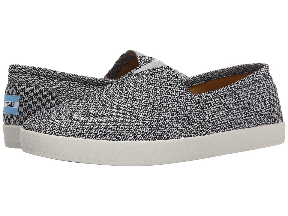 TOMS - Avalon Sneaker (Black/Grey Mesh) Men's Slip on Shoes