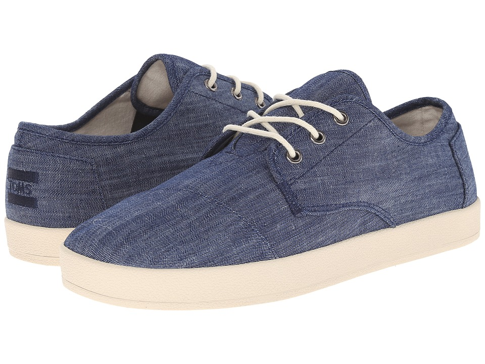 TOMS Paseo Light Blue Chambray Mens Lace up casual Shoes