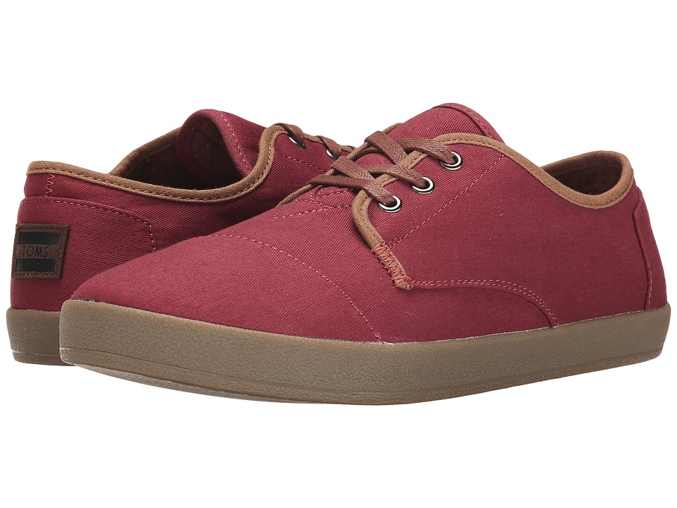 TOMS - Paseo (Oxblood Twill) Men's Lace up casual Shoes