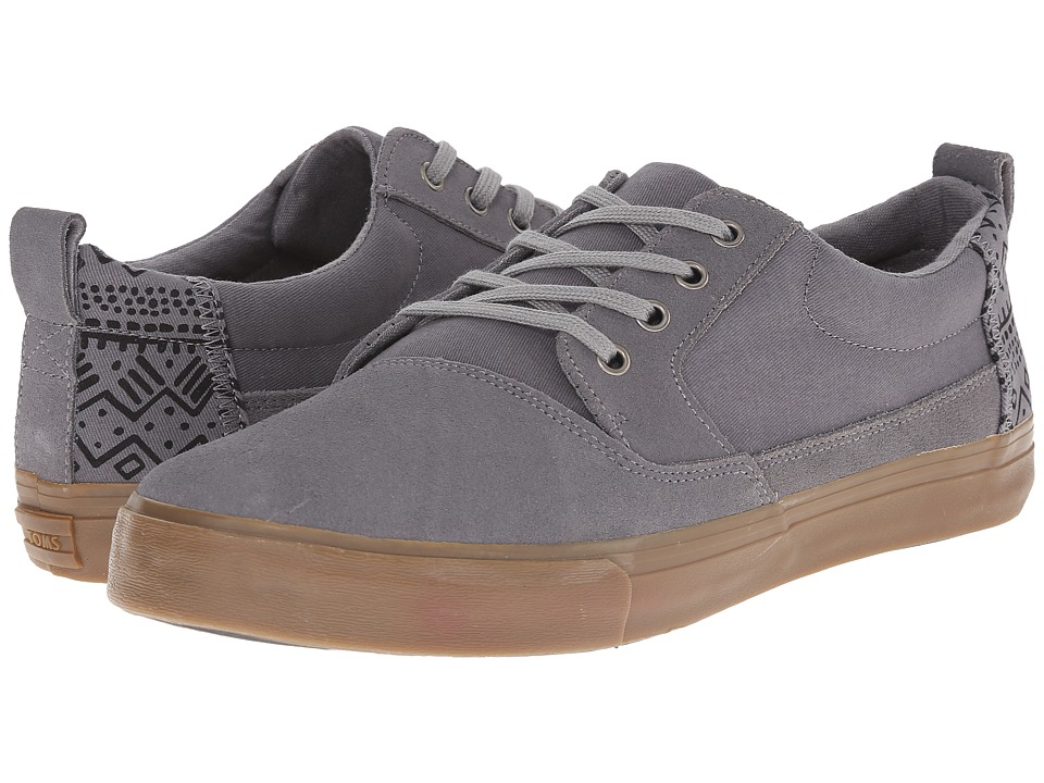TOMS - Valdez (Frost Grey Suede/Cotton Twill/Tribal) Men's Lace up casual Shoes