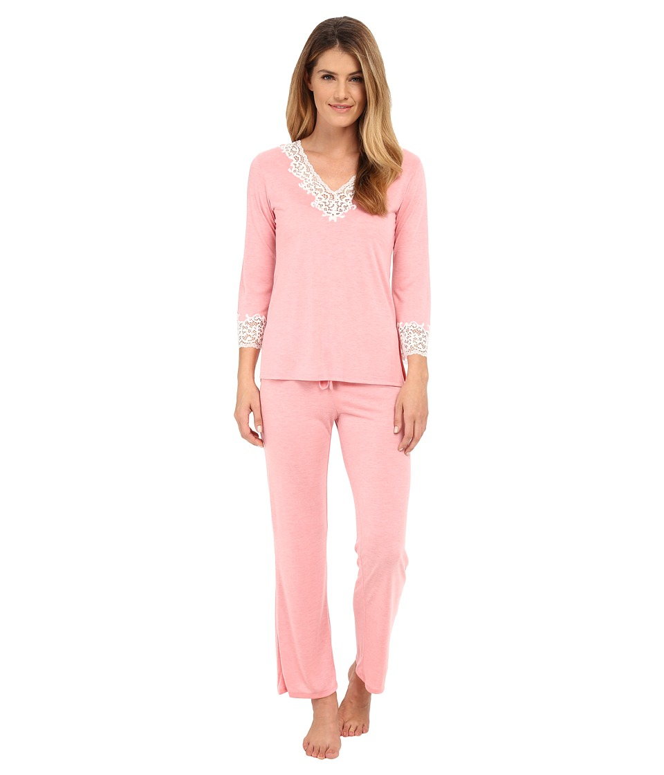 Natori - Lhasa PJ Set (Hot Pink Nectar w/ Ivory Lace) Women's Pajama Sets