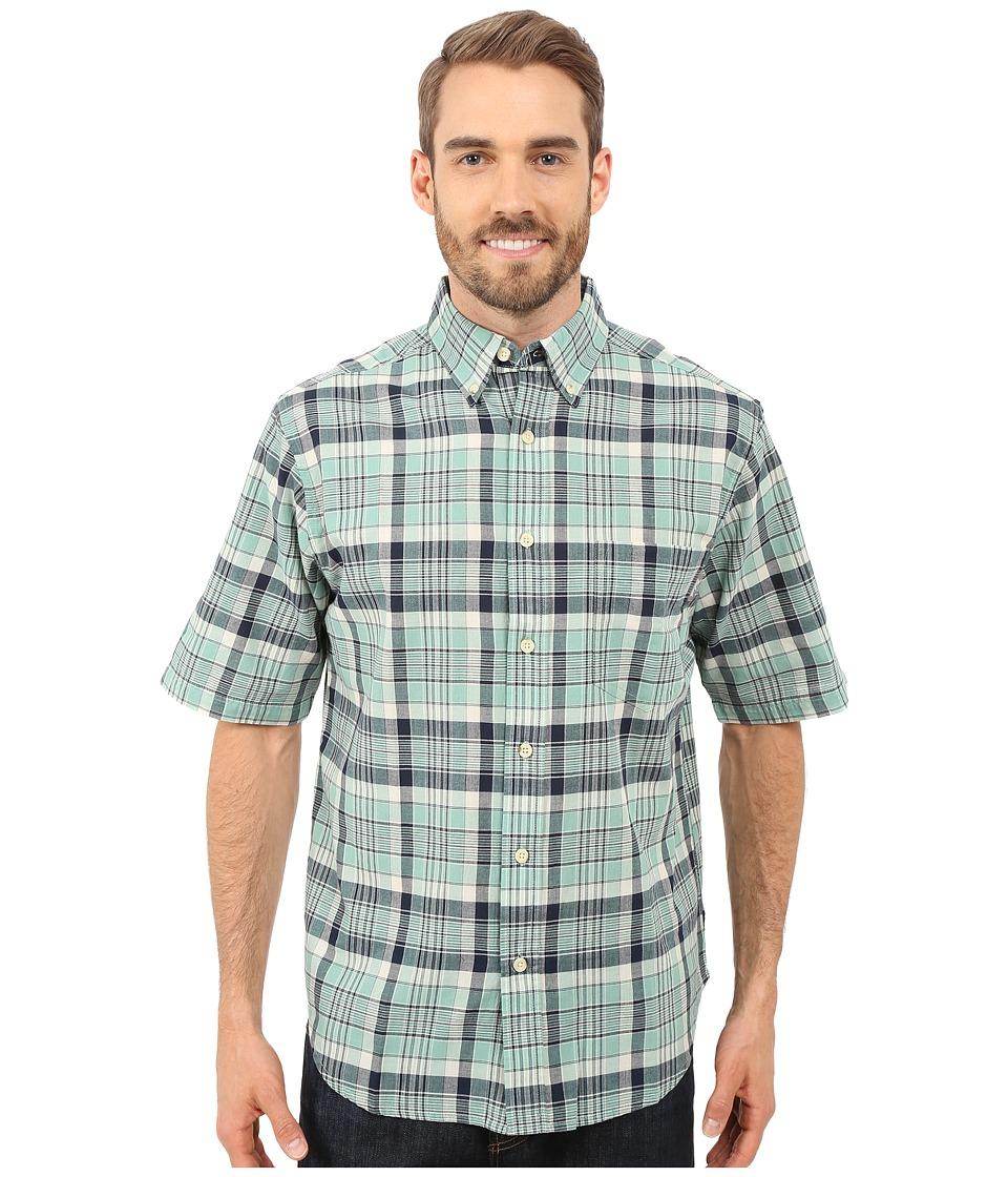 Woolrich - Timberline S/S Shirt (Faded Aqua) Men's Short Sleeve Button Up