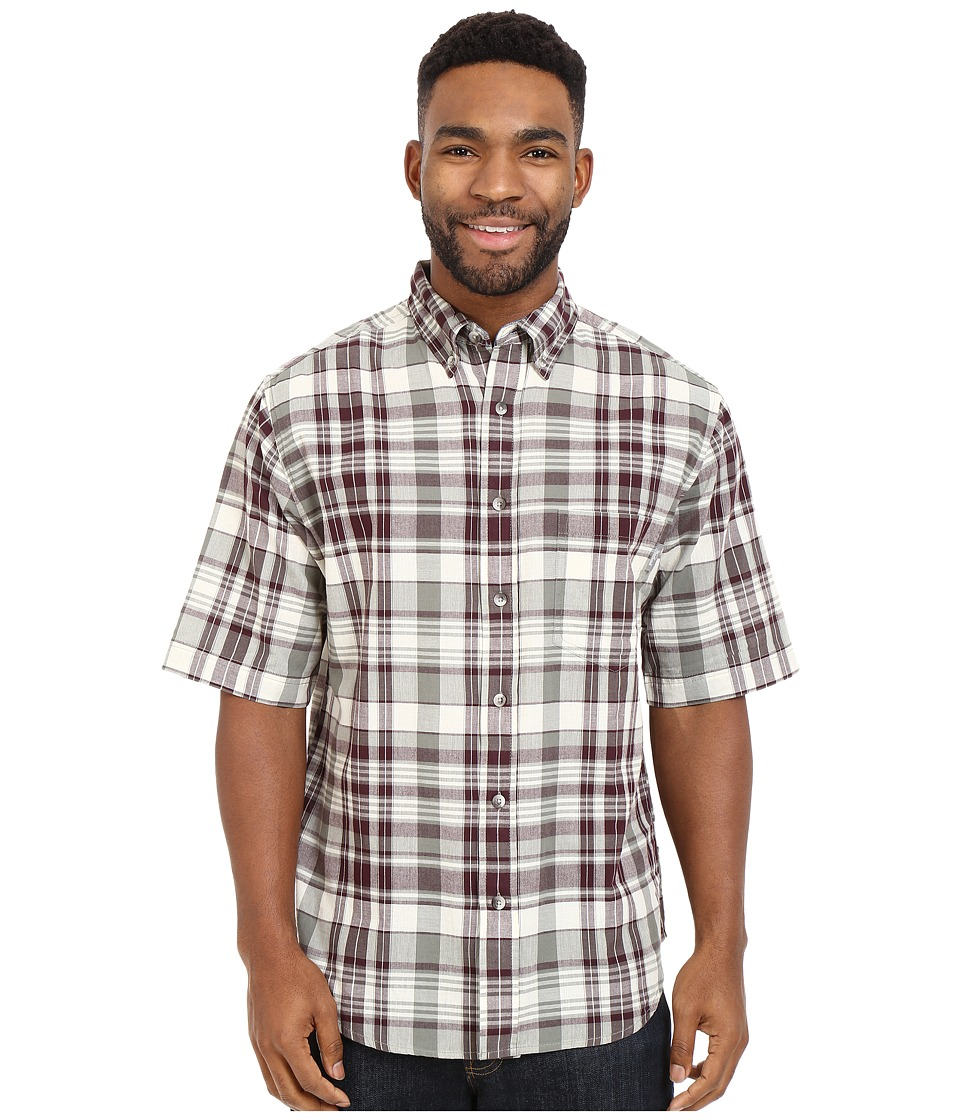 Woolrich - Timberline S/S Shirt (Field Gray) Men's Short Sleeve Button Up