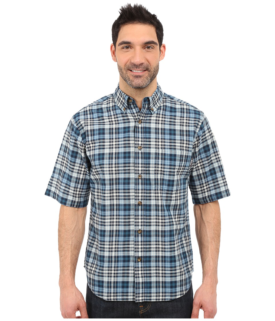 Woolrich - Timberline S/S Shirt (Nordic Blue) Men's Short Sleeve Button Up