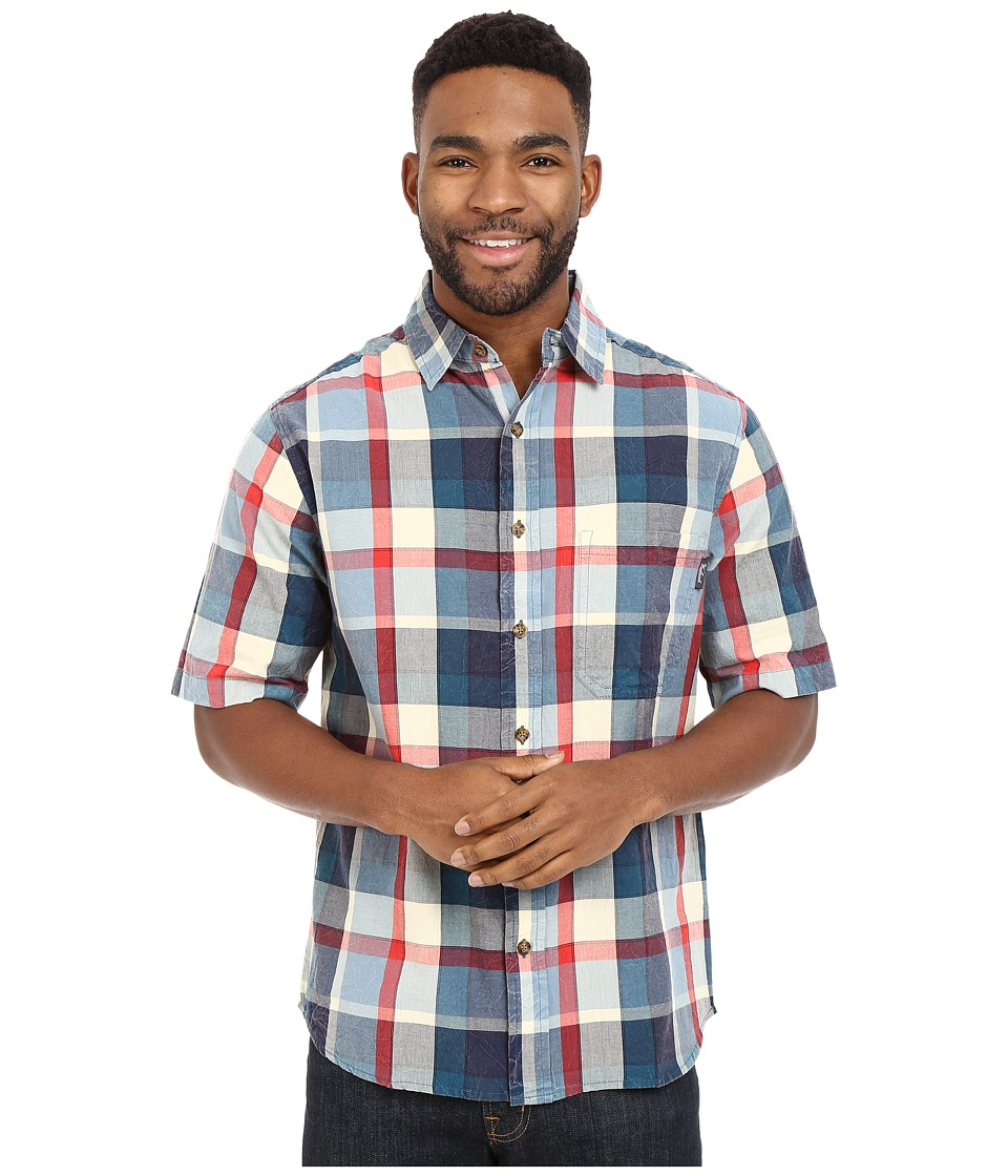 Woolrich - Red Creek S/S Shirt (Nordic Blue) Men's Short Sleeve Button Up
