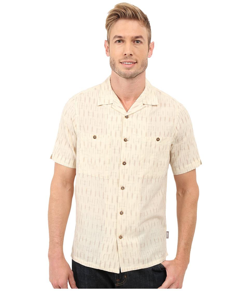 Woolrich Altitude S-S Shirt Cream Mens Short Sleeve Button Up