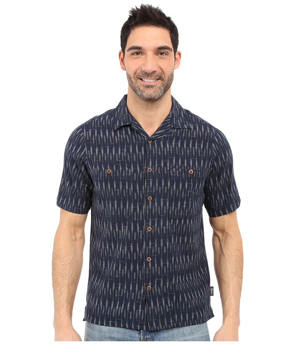 Woolrich - Altitude S/S Shirt (Deep Indigo) Men's Short Sleeve Button Up
