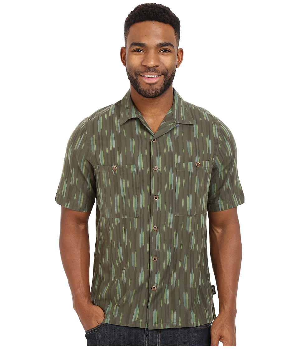 Woolrich - Altitude S/S Shirt (Olive) Men's Short Sleeve Button Up
