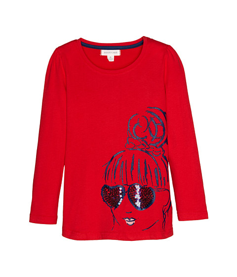 Pumpkin Patch Kids - Urban Folk Graphic Tee (Little Kids/Big Kids) (Poppy Red) Girl's Clothing