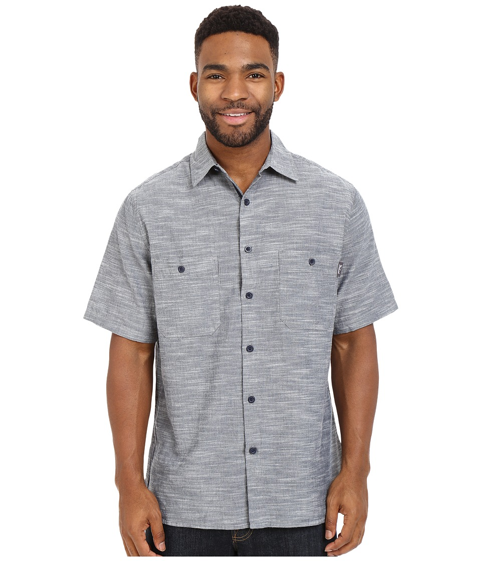 Woolrich - Lost Lake Chambray Shirt (Deep Indigo) Men's Short Sleeve Button Up
