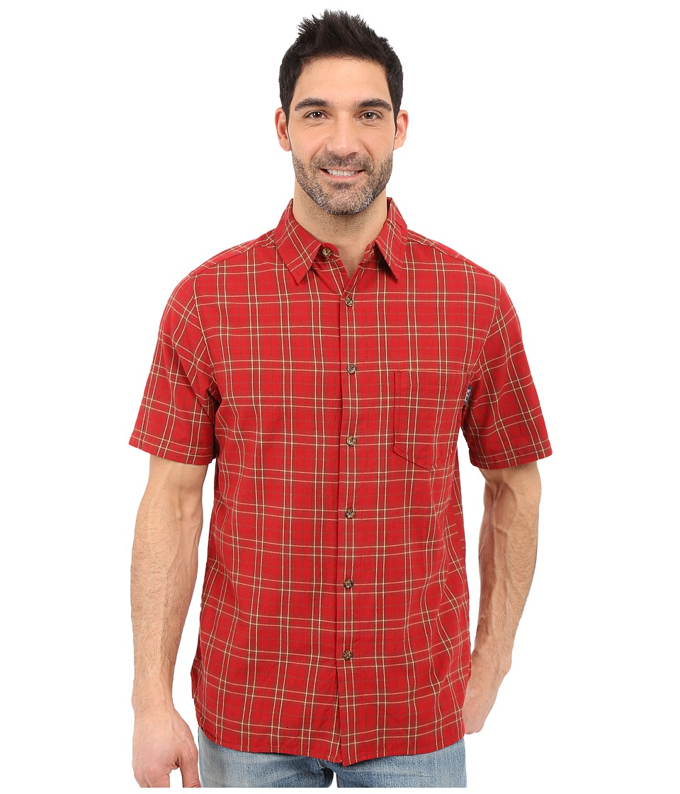 Woolrich - Amblewood Shirt (Crimson) Men's Short Sleeve Button Up