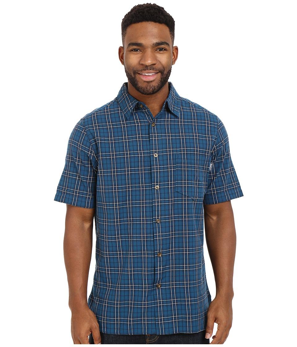 Woolrich - Amblewood Shirt (Nordic Blue) Men's Short Sleeve Button Up