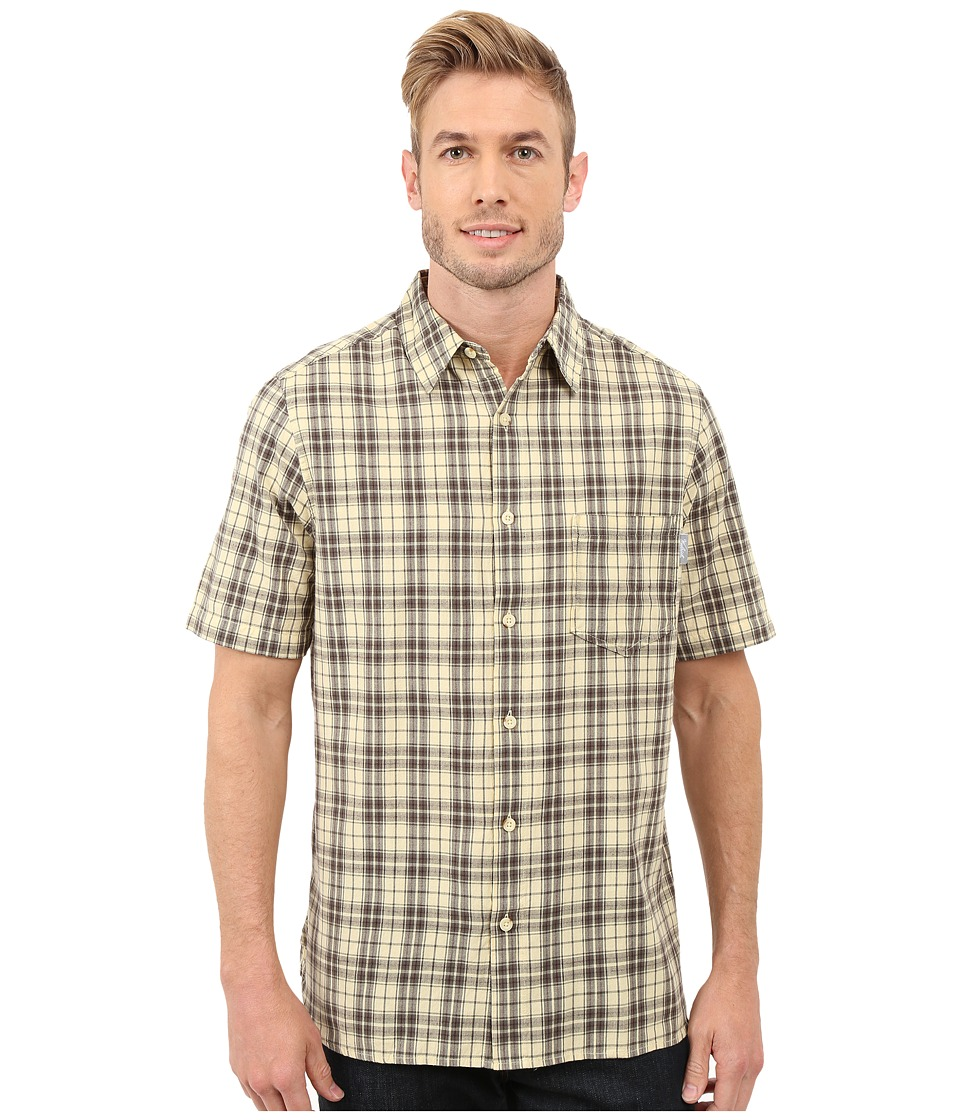 Woolrich - Amblewood Shirt (Vanilla) Men's Short Sleeve Button Up