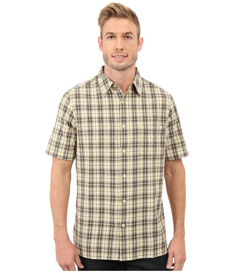 Woolrich - Amblewood Shirt (Vanilla) Men's Short Sleeve Button Up