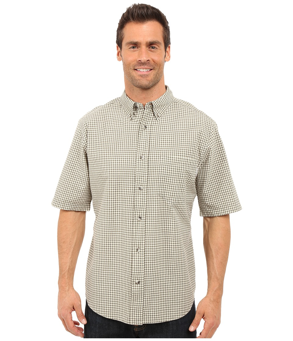 Woolrich - Weyland S/S Shirt (Field Gray) Men's Short Sleeve Button Up