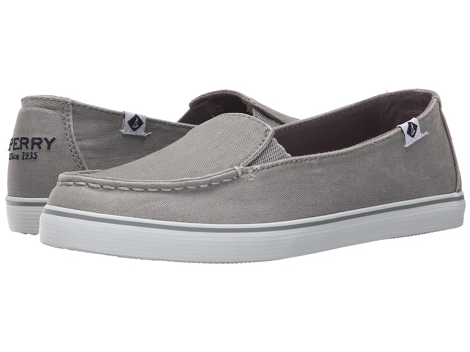 Sperry - Zuma Salt Wash Canvas (Grey) Women's Slip on Shoes