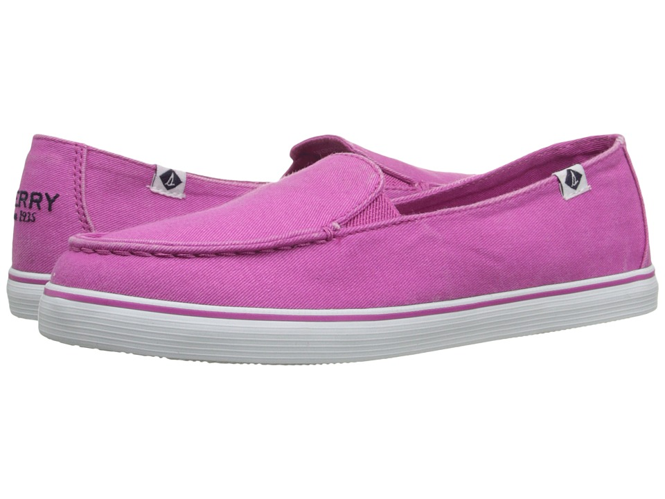 Sperry - Zuma Salt Wash Canvas (Bright Pink) Women's Slip on Shoes