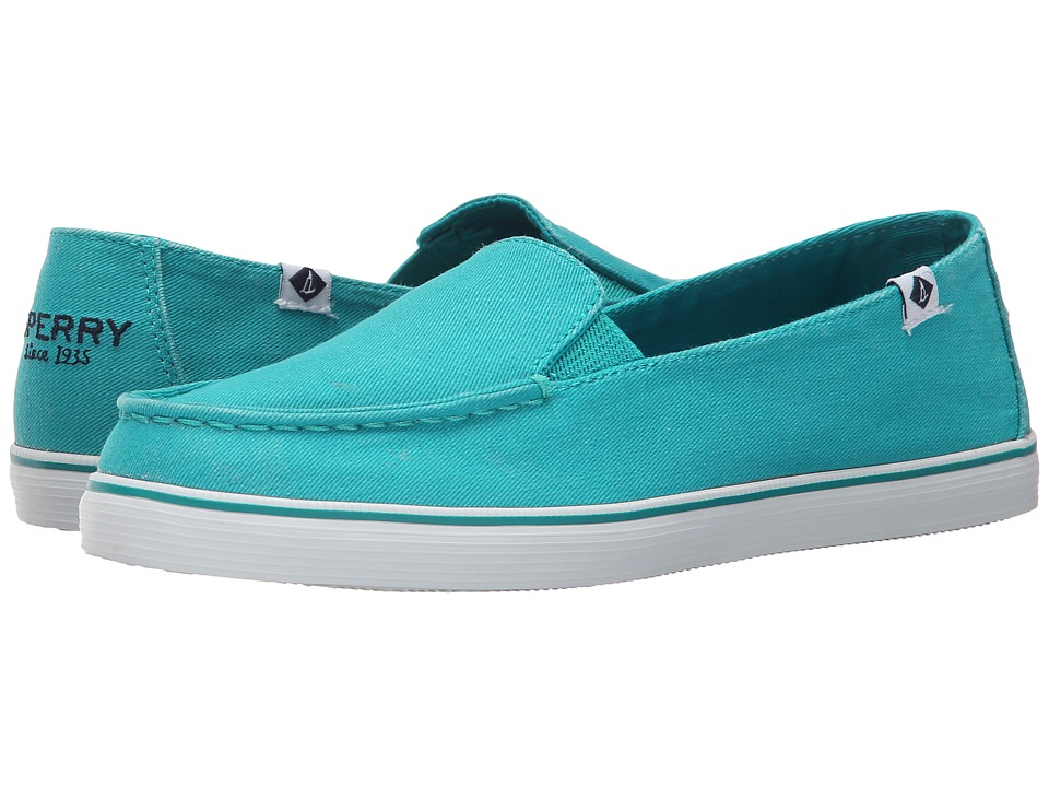 Sperry Top-Sider - Zuma Salt Wash Canvas (Teal) Women's Slip on Shoes