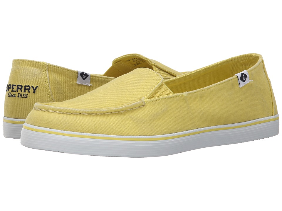 Sperry - Zuma Salt Wash Canvas (Yellow) Women's Slip on Shoes