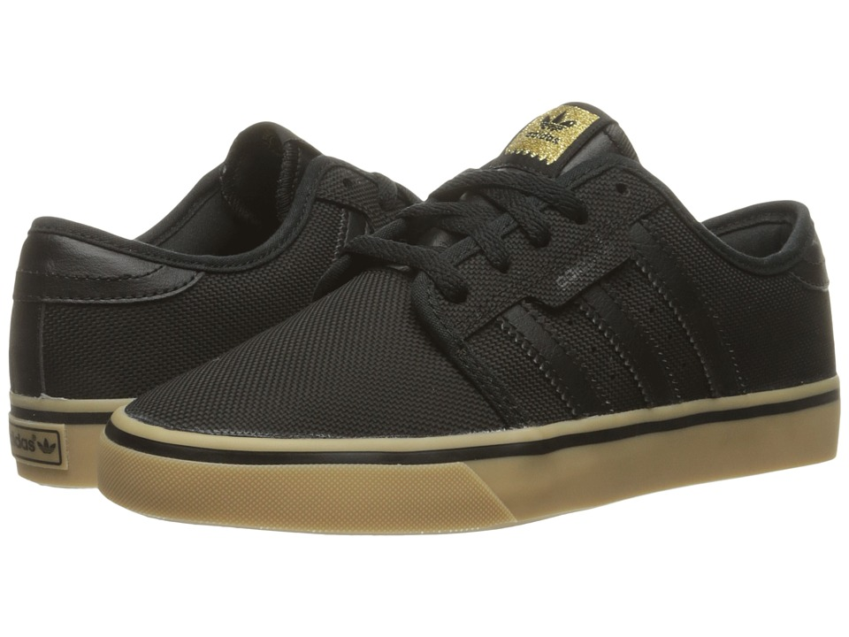 adidas Skateboarding - Seeley (Core Black/Core Black/Gum 4) Men's Skate Shoes