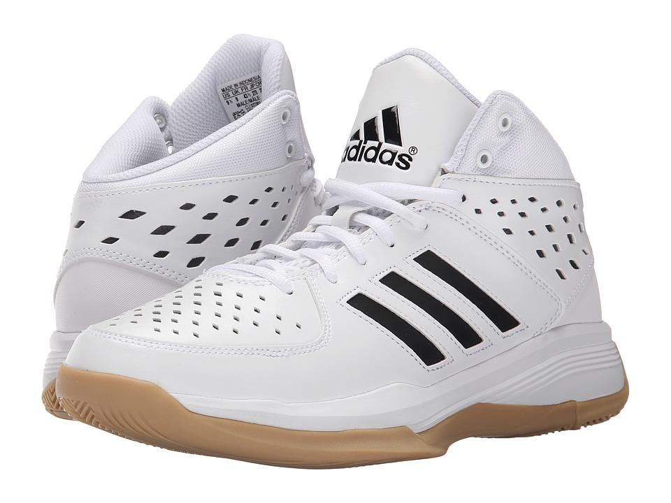adidas - Court Fury (White/Black/Gum) Men's Basketball Shoes