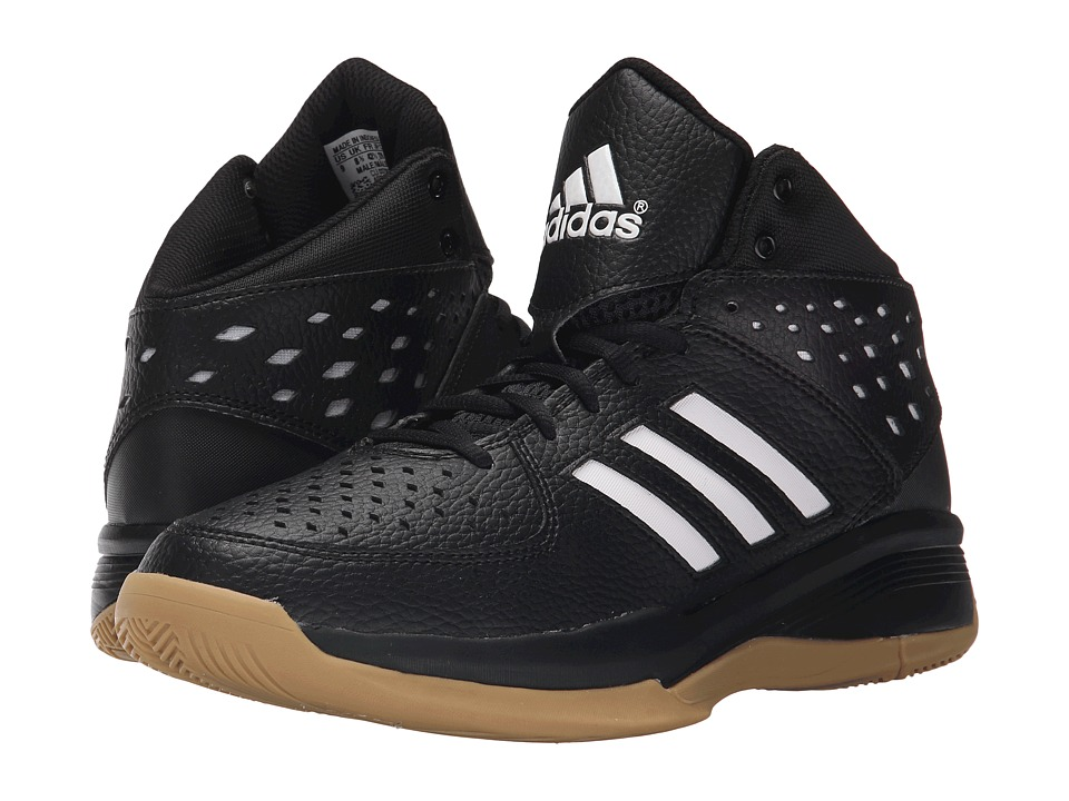 adidas - Court Fury (Black/White/Gum) Men's Basketball Shoes