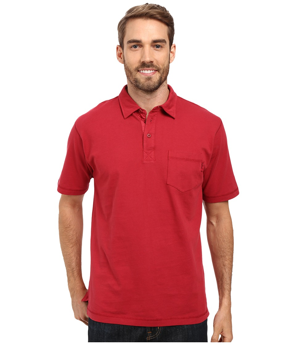 Woolrich - First Forks One-Pocket Polo (Crimson) Men's Short Sleeve Pullover