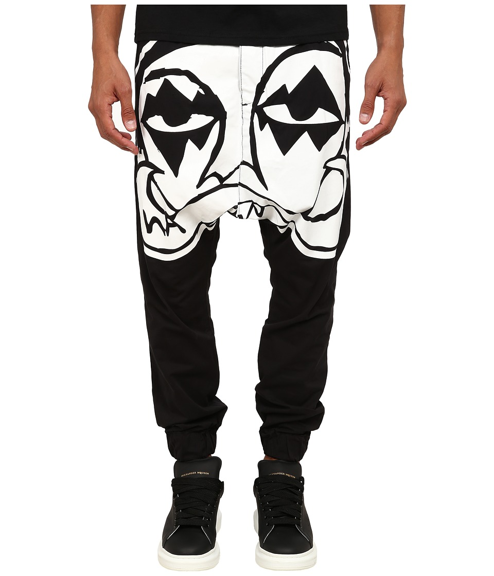 Haculla - Kiss Harem Pants (Black) Men's Casual Pants