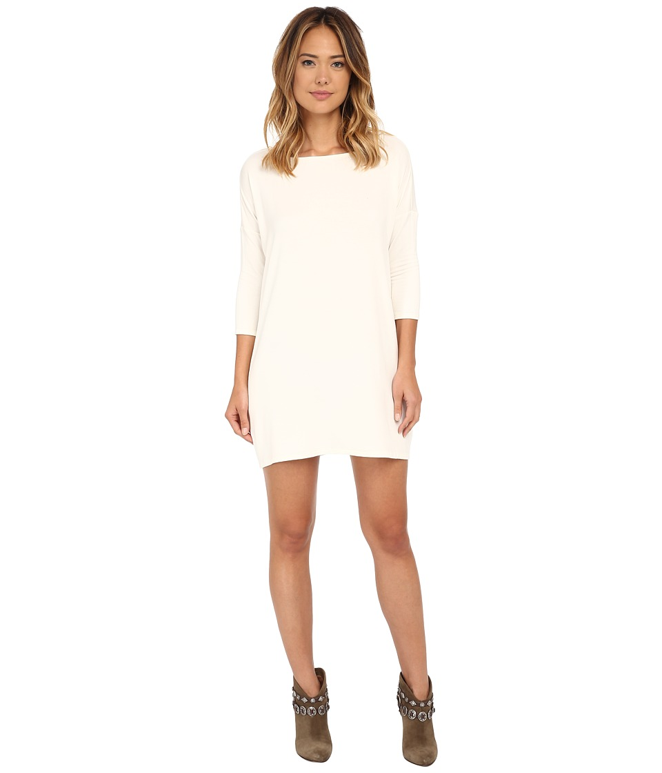 Culture Phit - Gigi Luxe French Terry Pocketed Dress (Ivory) Women's Dress