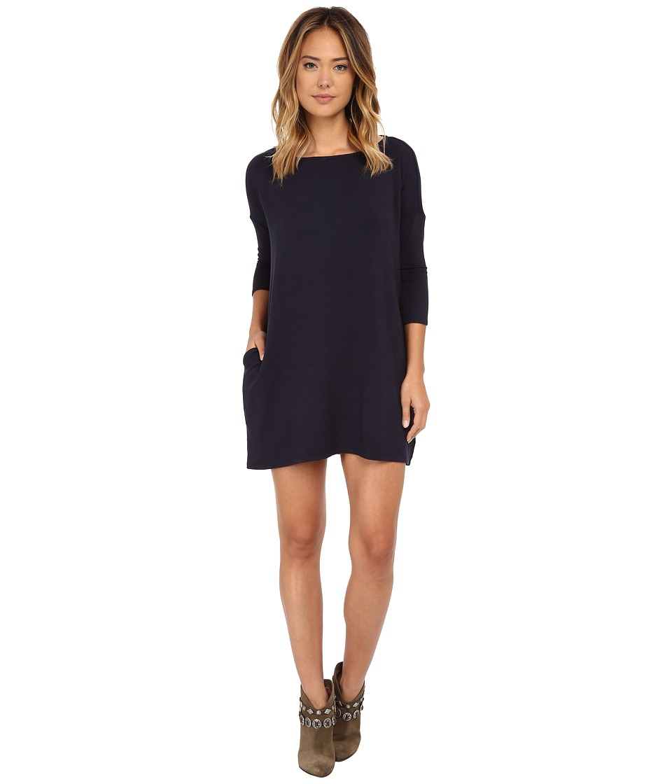 Culture Phit - Gigi Luxe French Terry Pocketed Dress (Navy) Women's Dress