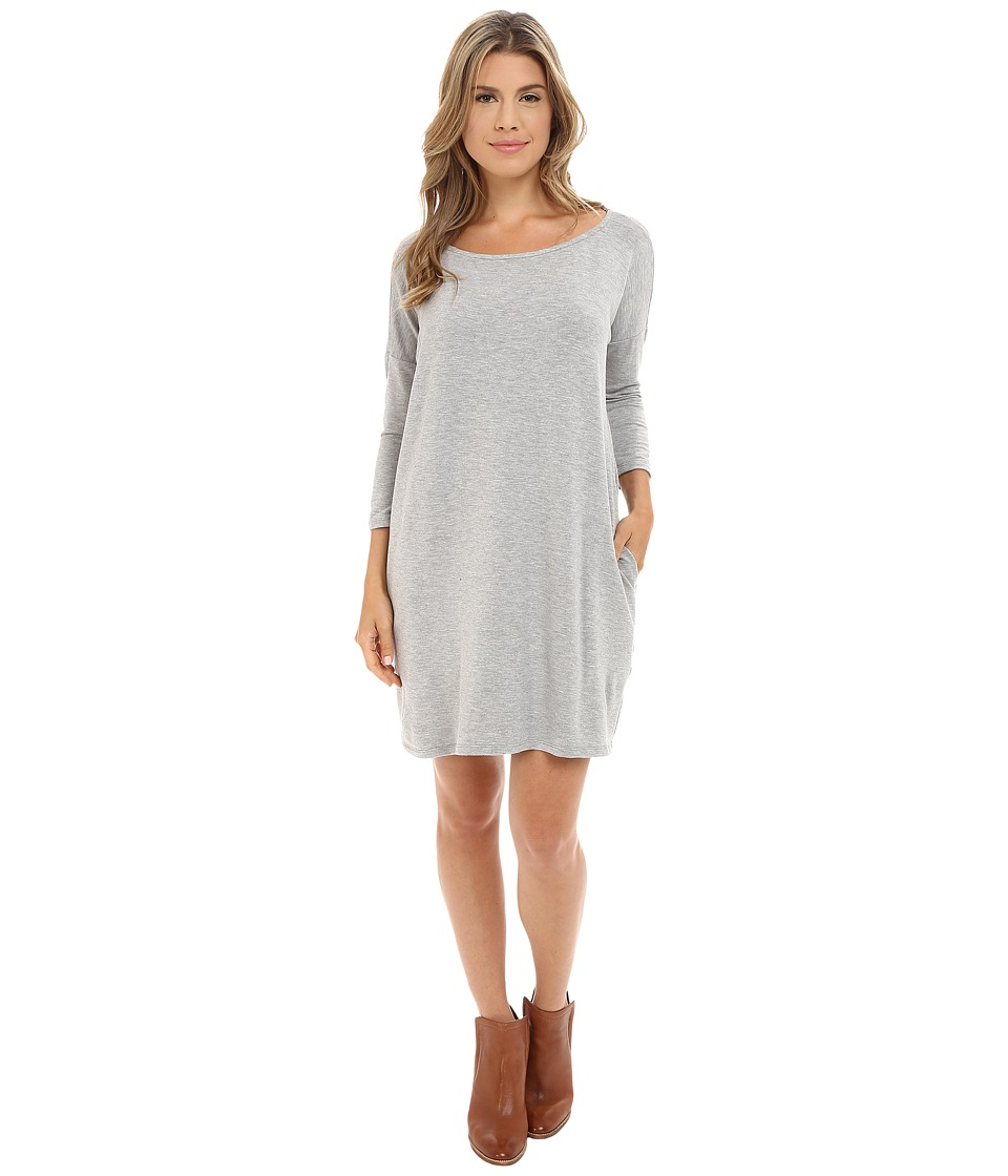 Culture Phit - Gigi Luxe French Terry Pocketed Dress (Heather Grey) Women's Dress