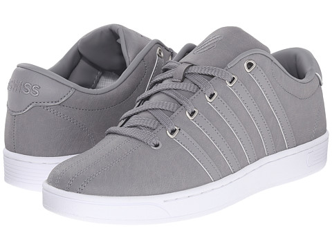 K-Swiss - Court Pro II C CMF (Stingray/White Leather) Men's Lace up casual Shoes