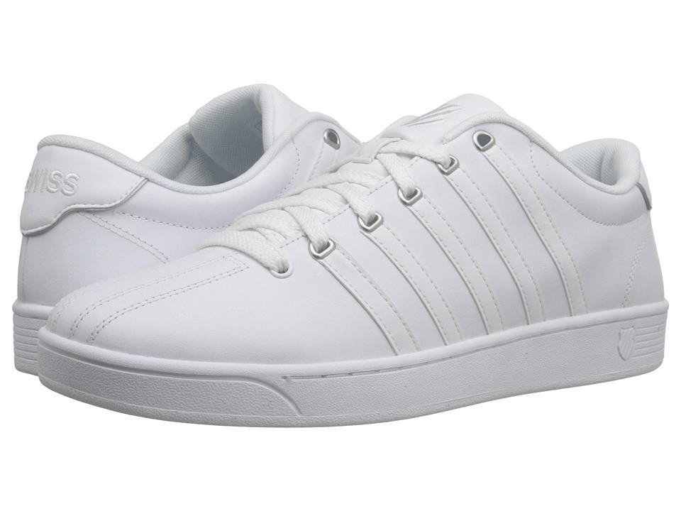K-Swiss - Court Pro II CMF (White/Silver Leather) Men