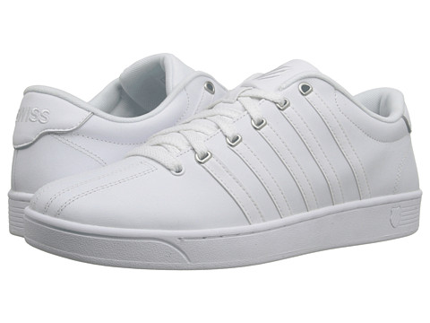 K-Swiss - Court Pro II CMF (White/Silver Leather) Men's Lace up casual Shoes