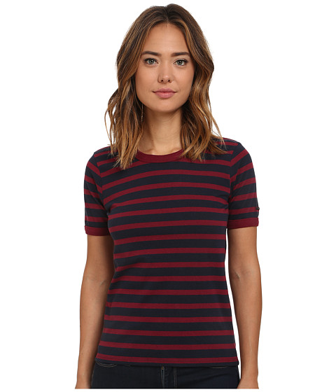 Obey - Camille Ringer Tee (Navy Multi) Women's T Shirt