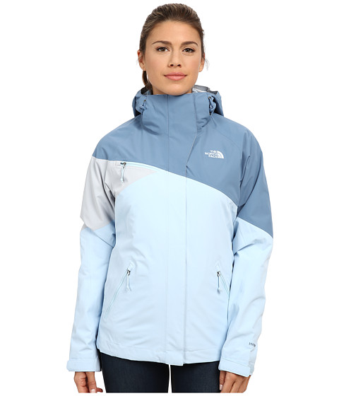 The North Face - Fleece Cinnabar Triclimate Jacket (Cool Blue/Tofino Blue/High Rise Grey) Women's Coat