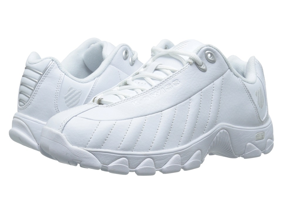 K-Swiss - ST329 CMF (White/Silver Leather) Men's Cross Training Shoes