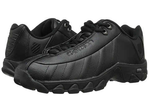 K-Swiss - ST329 CMF (Black Leather) Men's Cross Training Shoes