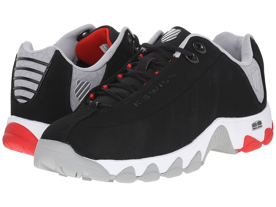 K-Swiss - ST329 CMF (Black/Fiery Red/Highrise Nubuck) Men's Cross Training Shoes