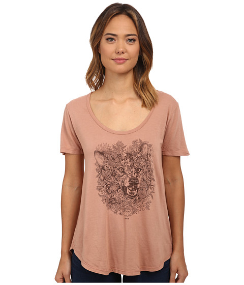 Obey - Pretty Dangerous Patti Tee (Dusty Blush) Women