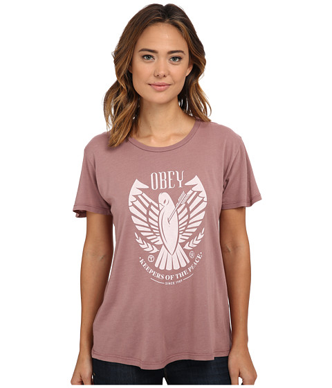 Obey - Keepers of Peace Thrift Tee (Dusty Ash Rose) Women