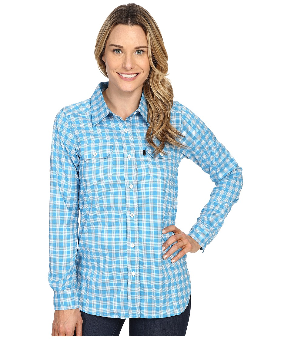 KAVU - Wynonna Top (River Blue) Women's Long Sleeve Button Up