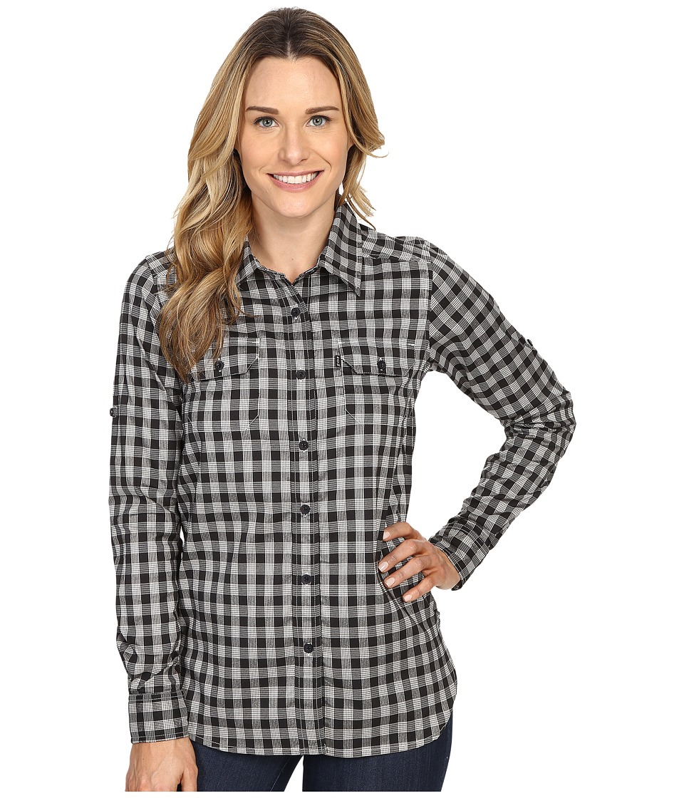 KAVU - Wynonna Top (Black/White) Women's Long Sleeve Button Up