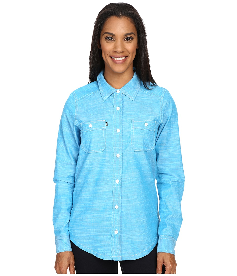 KAVU - Rusty Top (River Blue) Women's Long Sleeve Button Up