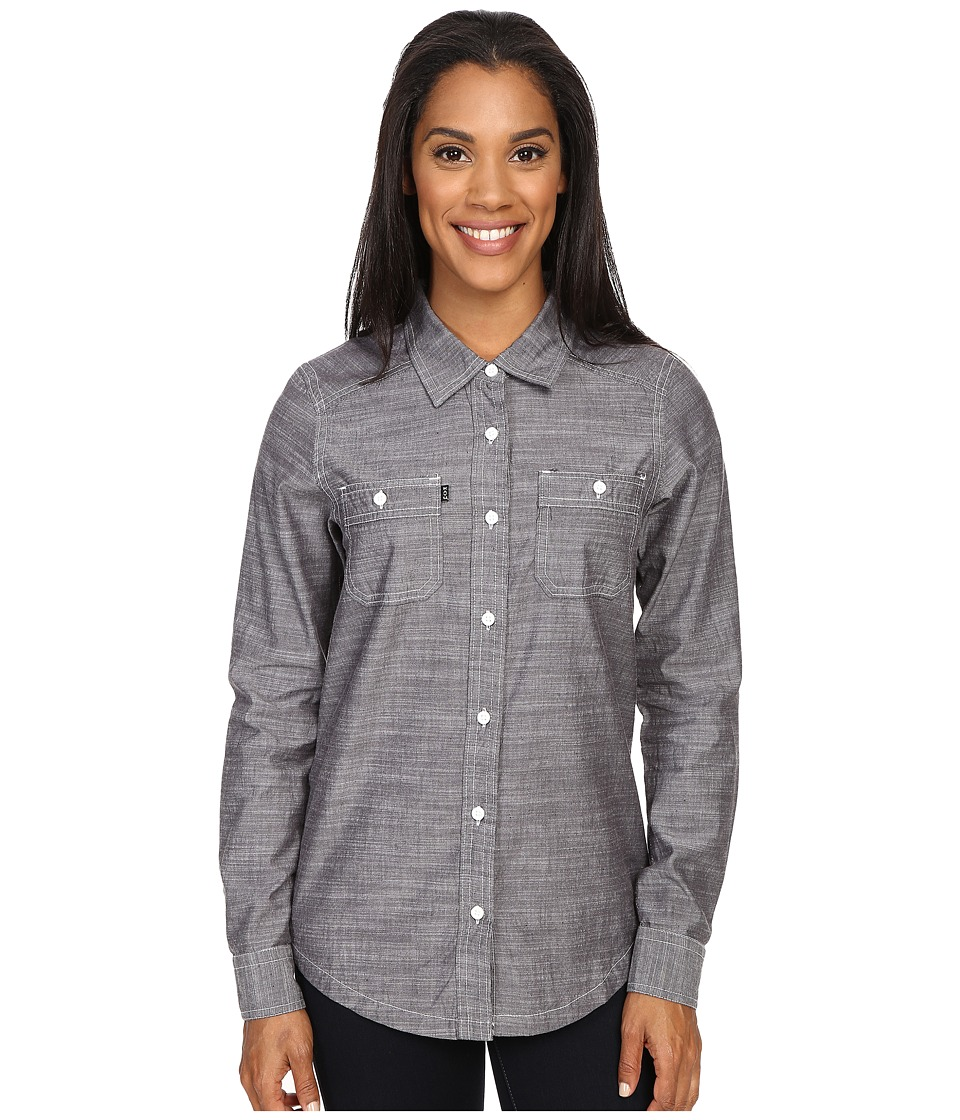 KAVU - Rusty Top (Navy) Women's Long Sleeve Button Up