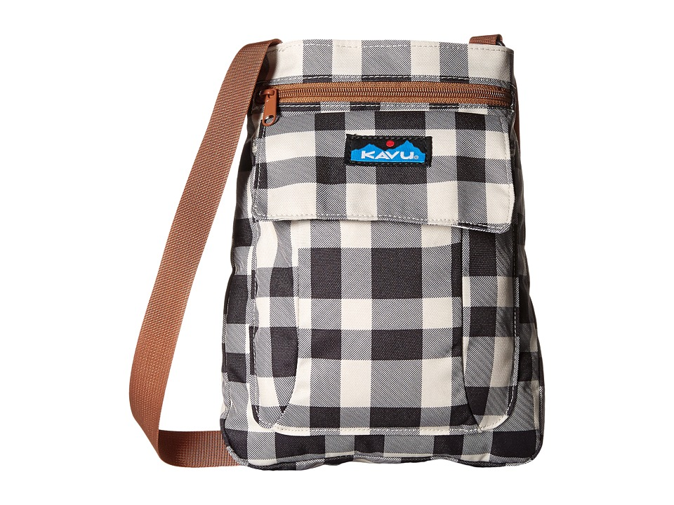 KAVU - For Keeps (BW Plaid) Cross Body Handbags