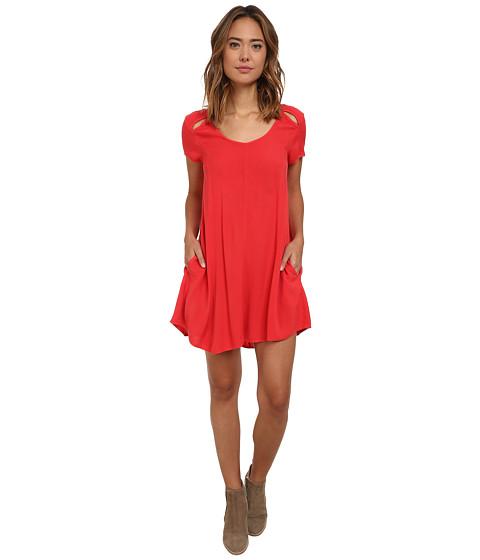 Obey - Penelope Dress (Haute Red) Women's Dress